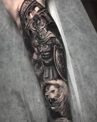 Gladiator Shield Tattoo