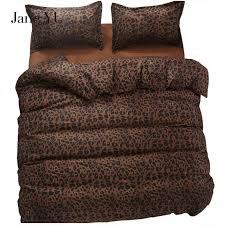 janeyu 2018 bedding set super king size duvet cover leopard bedding 3 4pcs bed set v pattern bed linen flat sheet bed set