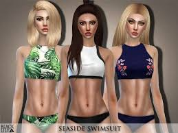 The Sims Resource: Seaside Swimsuit by Black Lily • Sims 4 Downloads | Sims  4, Sims 4 clothing, Sims