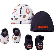 nfl chicago bears baby boys short sleeve suit set and accessory set 2 caps and 2 booties 7 pieces com