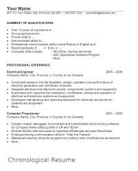 Sample Canadian Resume Sample Chronological Resume Page 1 Sample