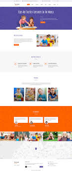 child care center website template intense child care website template
