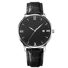 Simple <b>Men</b> Watch Leather Strap Watch <b>Custom</b> Logo <b>High Quality</b> ...
