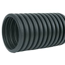 corrugated hdpe drain pipe solid with bell end