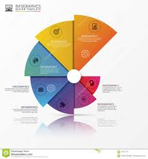 Modern Pie Chart Modern Infographics Options Banner Spiral Pie Chart Vector