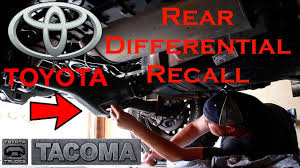 3rd Generation Tacoma Rear Differential Recall - Tim's Tacoma ...