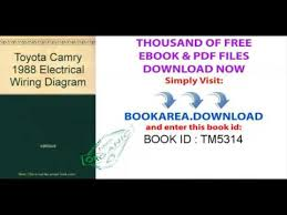 toyota camry 1988 electrical wiring diagram