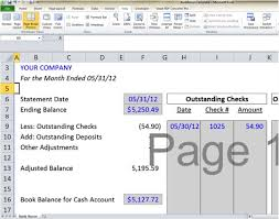 excel reconciliation template bank reconciliation template 5 easy steps to balance your accounts