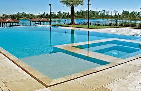 infinity pool edge. Large Infinity Edge Pool And Spa