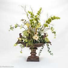 decoration decorating spring faux flower arrangements for