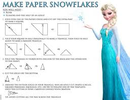 Snowflake is unique, beautiful and great for art project for kids. Paper Snowflakes Free Disney S Frozen Printables