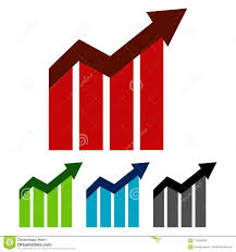 Trending Graph Simple Flat Up Trending Graph Business Graphic Four Color