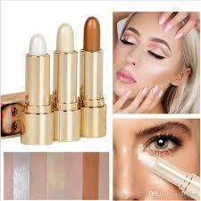 contour 3d balm makeup concealer stick highlighter brighten face primer beauty face foundation bronzer highlight contour stick 3 colour 2 in 1 contour stick