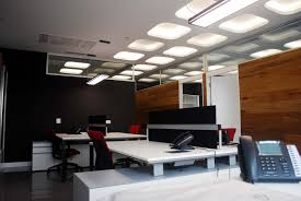 interior contemporary black modern office. Interior: Fabulous Round Lighting Above Red Office Chair On Sleek Floor Plus White Table Side Interior Contemporary Black Modern D