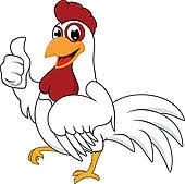 chicken clipart. Interesting Chicken Daft Chicken Cartoon 02 Happy White With OK Intended Clipart E