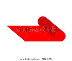 carpet roll logo. red carpet on roll. vector illustration roll logo