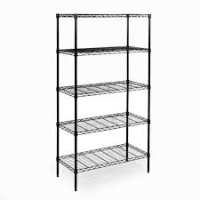 stylish seville shelving classic 5 tier black steel wire d x w e bay unit part system canada home depot caster sam club instruction