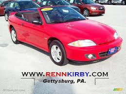 2000 Bright Red Chevrolet Cavalier Z24 Convertible #70540386 ...