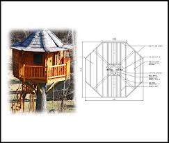 12 Octagon Treehouse Plan Standard Treehouse Plans Attachment