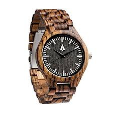 treehut men s zebrawood wooden watch all zebrawood wood strap treehut men s zebrawood wooden watch all zebrawood wood strap quartz analog quality miyota movement and stainless steel tri fold clasp push