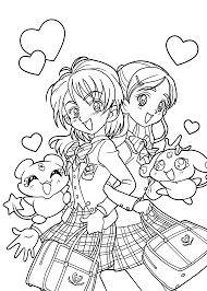 Funny Pretty Cure Anime Coloring Pages For Kids Printable Free