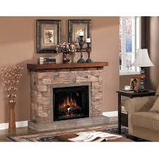 image of electric stone corner fireplace