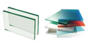 glass or polycarbonate