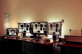 lighting office. Using Simple Table Lamps As Ambient Lighting Office