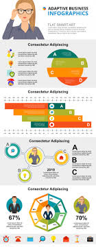 Consulting Charts Consulting Or Statistics Concept Infographic Charts Set