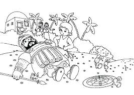 Free And Coloring Pages For Kids David Goliath Page Bible
