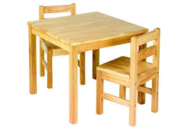 jr kids table set inc 2 chairs natural