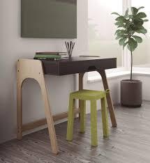 office study desk. Modern Aura Home Office Study Desk In Matt Black Lacquer And Natural Oak Thumbnail A