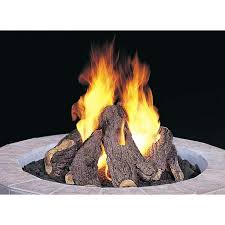 fire pits ideas natural design ceramic logs for gas pit modern sample round shape white