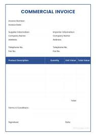 Sample Commercial Invoice Download No Commercial Value Invoice Non