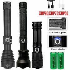 <b>Powerful LED</b> Flashlight XHP50 Torch <b>USB Rechargeable</b> ...