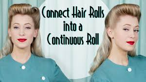 techniques for a 1940s continuous roll hairstyle