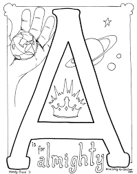 Free Christian Coloring Pages For Kids Children And Adults The A Is