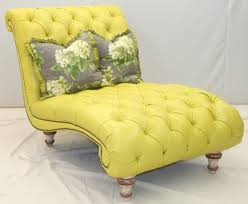 Furniture Oversized Yellow Tufted Chaise Bench With Two Floral - Chaise lounge living room furniture