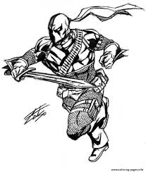 Small Picture Deathstroke Original Coloring Pages Printable