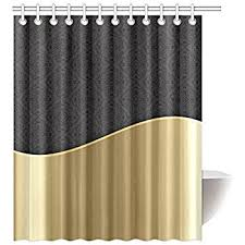 black and gold shower curtain. happy more custom elegant black gold damask bathroom waterproof fabric 60x72 inch shower curtain and l
