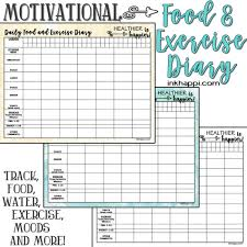 Food And Exercise Diary Motivational Food And Exercise Diary Free Printable Inkhappi
