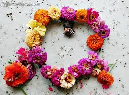 garden zinnia wreath diy jemma