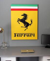 Vintage Ferrari Dealer Sign 1950 1960 S Nero Cavallo