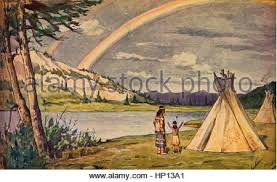 song of hiawatha by henry wadsworth longfellow hiawatha and the saw the rainbow in the heaven scene from epic poem the song of hiawatha