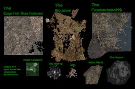 fallout open world map size comparison  with measurements  fallout