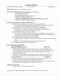 Sample Resume For Entry Level Registered Nurse Best Objective