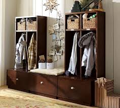 Entryway Storage Bench Coat Rack