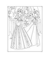 Bộ tranh tô màu công chúa Elsa dễ thương cho bé gái