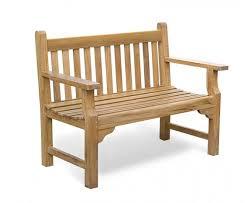 taverners teak 4ft solid wood garden bench 1 2m jpg