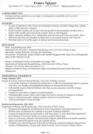 cv sample cv sample for an ecologist environmentalist susan ireland resumes